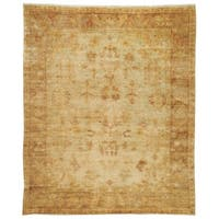 Safavieh Hand-knotted Oushak Soft Green/ Rust Wool Rug - 8' x 10'