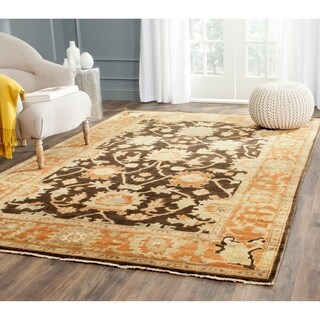 Safavieh Couture Hand-knotted Oushak Mersiha Traditional Oriental Wool Rug with Fringe