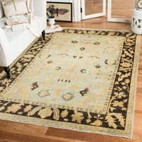 Safavieh Hand-knotted Oushak Brown Wool Rug - 6' x 9'