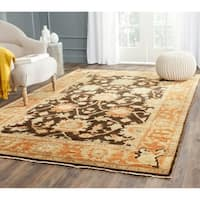Safavieh Hand-knotted Oushak Brown/ Rust Wool Rug - 10' x 14'