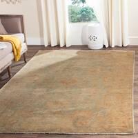 Safavieh Hand-knotted Oushak Dark Green/ Brown Wool Rug - 8' x 10'