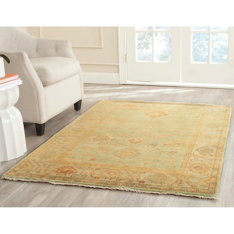 Safavieh Couture Hand-knotted Oushak Tonna Traditional Oriental Wool Rug with Fringe
