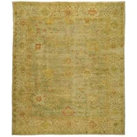 Safavieh Hand-knotted Oushak Dark Green/ Light Green Wool Rug - 9' x 12'