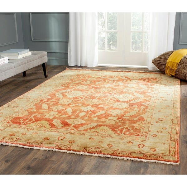 Safavieh Hand-knotted Oushak Rust/ Ivory Wool Rug - 10' x 14'