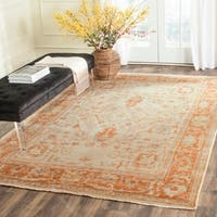 Safavieh Hand-knotted Oushak Ivory/ Rust Wool Rug - 9' x 12'