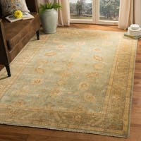 Safavieh Hand-knotted Oushak Light Blue/ Beige Wool Rug - 8' x 10'