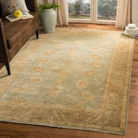 Safavieh Hand-knotted Oushak Light Blue/ Beige Wool Rug - 9' x 12'