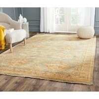 Safavieh Hand-knotted Oushak Grey/ Ivory Wool Rug - 9' x 12'
