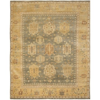 Safavieh Hand-knotted Oushak Grey/ Gold Wool Rug (9' x 12')
