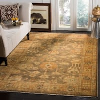 Safavieh Hand-knotted Oushak Brown/ Rust Wool Rug - 9' x 12'