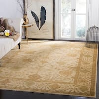 Safavieh Hand-knotted Oushak Ivory/ Ivory Wool Rug - 9' x 12'