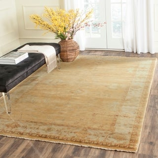 Safavieh Hand-knotted Oushak Gold/ Ivory Wool Rug (10' x 14')