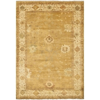 Safavieh Hand-knotted Oushak Gold/ Ivory Wool Rug (9' x 12')