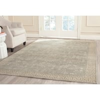 Safavieh Hand-knotted Oushak Blue/ Ivory Wool Rug - 10' x 14'