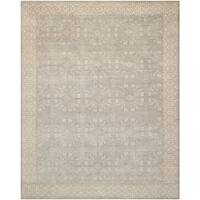 Safavieh Hand-knotted Oushak Blue/ Ivory Wool Rug - 8' x 10'