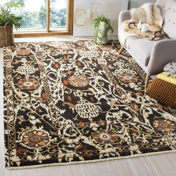 Safavieh Hand-knotted Oushak Brown Wool Rug (9' x 12')