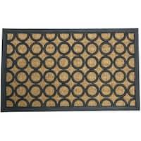 """Rubber-Cal 'Tranquil Pattern' Rubber Coir Doormat (18"""" x 30"""")"""