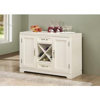 Pearl White Buffet With Wine Bottle Storage Ping The Best Deals On Buffets