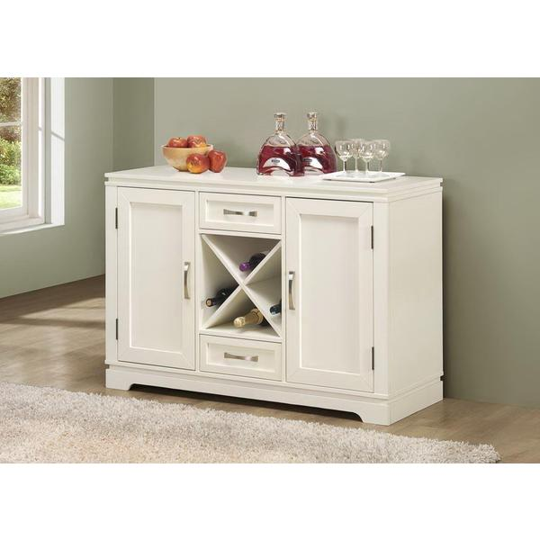 Pearl White Buffet With Wine Bottle Storage Free