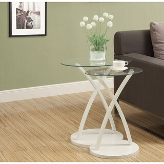 White Bentwood 2-piece Nesting Table Set