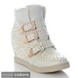 Henry Ferrera Women's Studded Wedge Sneakers