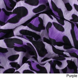 LA77 Women's Leopard Crinkled Scarf