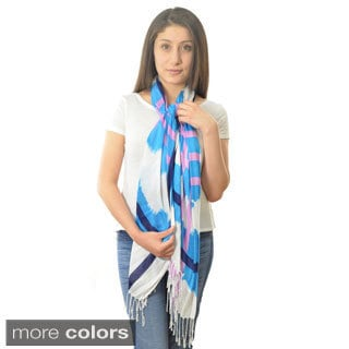 LA77 Twisted Fringe Plaid Scarf