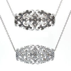Victoria Kay Sterling Silver Diamond Art Deco Style Necklace