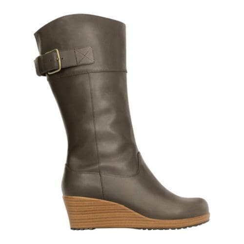 3b0e13b20214b4 ... Thumbnail Women  x27 s Crocs A-leigh Leather Boot Espresso Walnut ...
