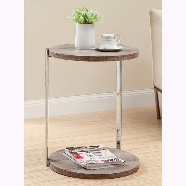 Shop Dark Taupe Reclaimed Look Accent Table Free