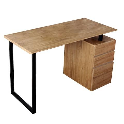 Modern Design Reversible Side Cabinet Compact Computer Desk