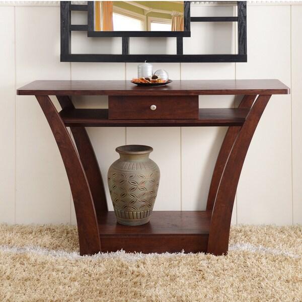 Furniture of america magnolia modern 1 drawer dark walnut for Furniture of america architectural inspired dark espresso coffee table