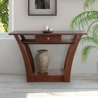 Clay Alder Home Sachs Modern 1-drawer Dark Walnut Sofa Table