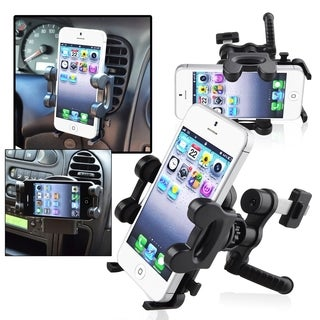 INSTEN Universal Phone Holder Plate/ Swivel Car Air Vent Holder Mount