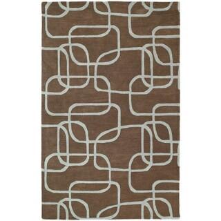 Graffix Dimensions Hand-Tufted Brown Rug (9'6 x 13')