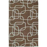 Graffix Dimensions Hand-Tufted Brown Rug - 5' x 7'9