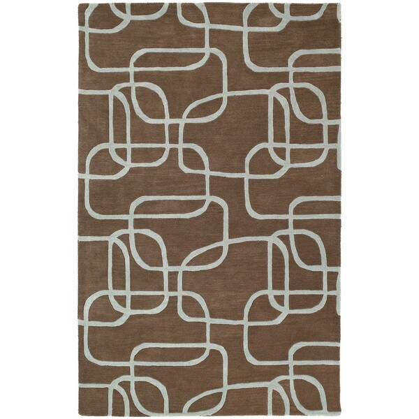Graffix Dimensions Hand-Tufted Brown Rug - 5' x 7'9