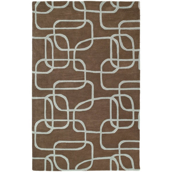 Graffix Dimensions Hand-Tufted Brown Rug (8'0 x 11'0)