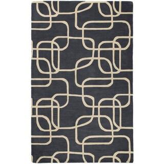 Graffix Dimensions Hand-Tufted Charcoal Rug (5'0 x 7'9)