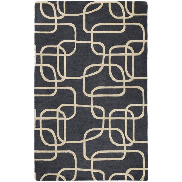 Graffix Dimensions Hand-Tufted Charcoal Rug - 5' x 7'9