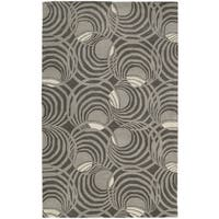 Graffix Spiral Hand-Tufted Grey Rug - 8' x 11'