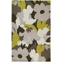 Graffix Leaves Hand-Tufted Multi Rug (9'6 x 13')