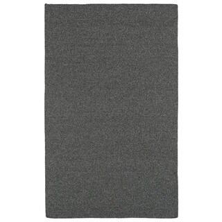 Malibu Indoor/Outdoor Woven Charcoal Rug (2'0 x 3'0)