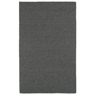 Malibu Indoor/Outdoor Woven Charcoal Rug (3'0 x 5'0)
