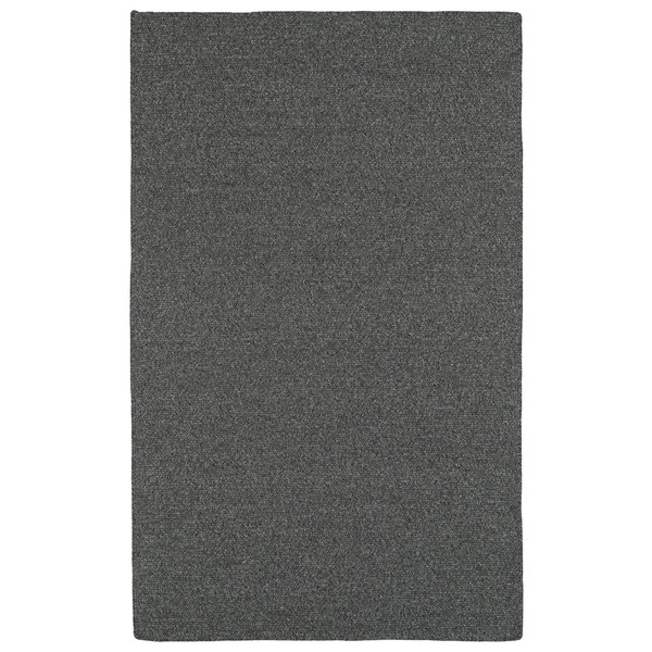 Malibu Indoor/Outdoor Woven Charcoal Rug - 3' x 5'