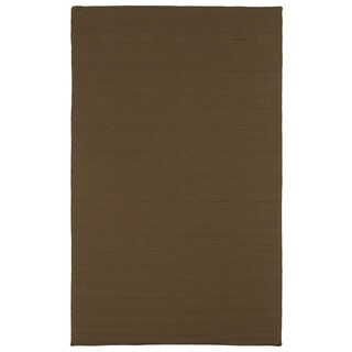 Malibu Indoor/Outdoor Woven Chocolate Rug - 3' x 5'