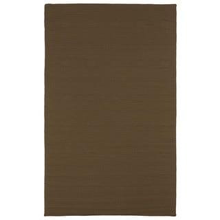 Malibu Indoor/Outdoor Woven Chocolate Rug (5'0 x 8'0) - 5' x 8'