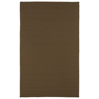 Malibu Indoor/Outdoor Woven Chocolate Rug (9'0 x 12'0) - 9' x 12'