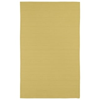 Malibu Indoor/ outdoor Woven Yellow Rug (8'x11') - 8' x 11'