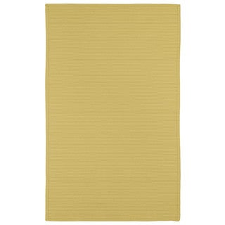 Yellow Reversible Chenille Flat Weave Area Rug 10 X 14